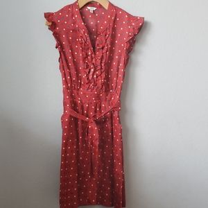Polka-dot Shift dress with Pockets